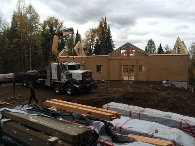 setting up Timber Frame