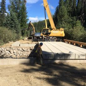 Setting up bridge panels in Swift River BC