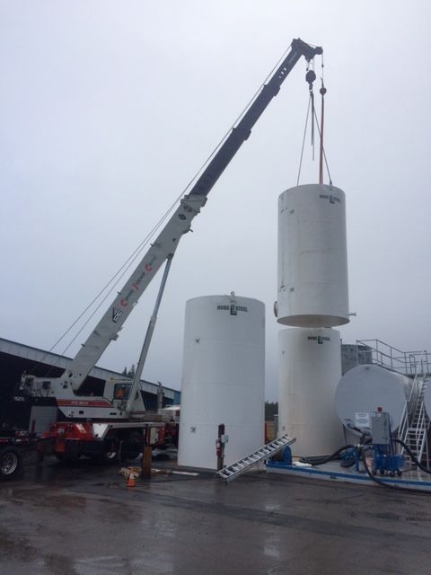 installing new tanks for Caribou Fire Center